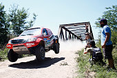 Christian Lavielle and Pascal Maimon of France driving for Overdrive Toyota Hilux compete during day 1 of the Dakar Rallly on January 4 2015 between...