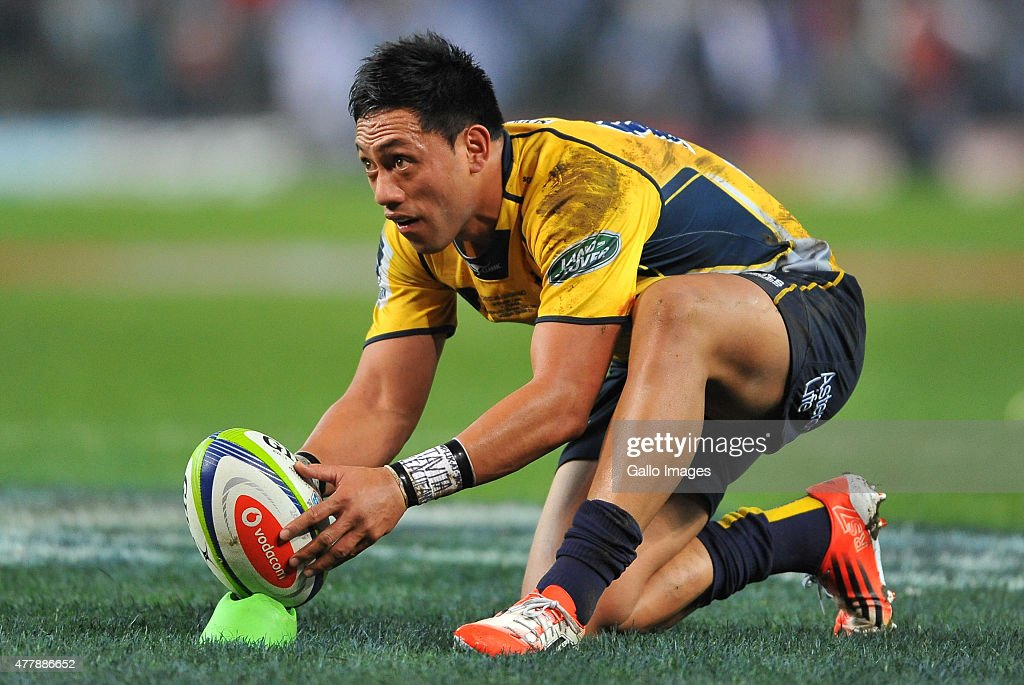 Christian Lealiifano of the Brumbies during the Super Rugby Qualifying Final match between DHL Stormers and Brumbies at DHL Newlands Stadium on June...
