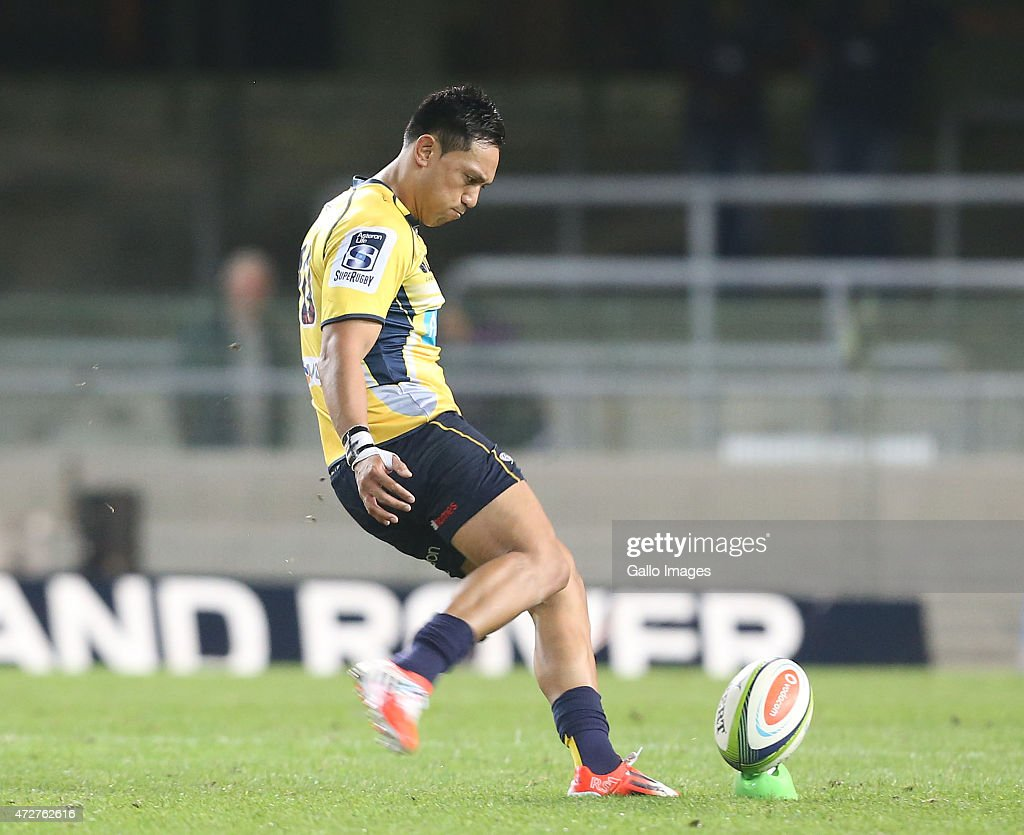 Christian Lealiifano of the Brumbies during the Super Rugby match between DHL Stormers and Brumbies at DHL Newlands Stadium on May 09 2015 in Cape...