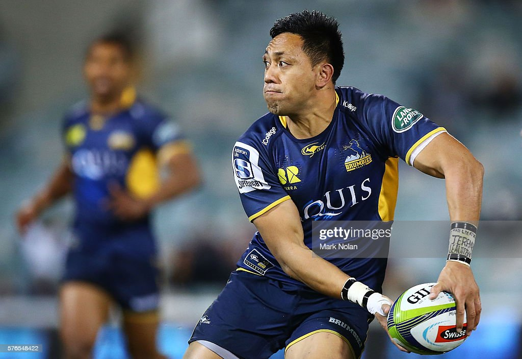 Christian Lealiifano of the Brumbies in action during the round 17 Super Rugby match between the Brumbies and the Force at GIO Stadium on July 16...
