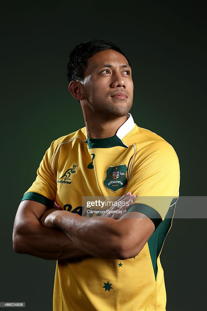 Christian Lealiifano of the Wallabies poses during an Australian Wallabies portrait session on July 8 2015 in Sunshine Coast Australia