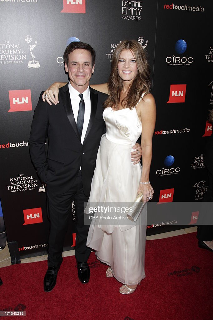 Christian LeBlanc and Michelle Stafford of The Young and The Restless on the red carpet at THE 40TH ANNUAL DAYTIME ENTERTAINMENT EMMY AWARDS at THE BEVERLY HILTON in Los Angeles.