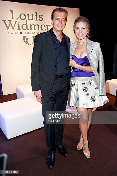 Christian Lengling CEO Louis Widmer and singer songwriter Victoria Swarovski attend the Tribute To Bambi at Station on October 6 2016 in Berlin...
