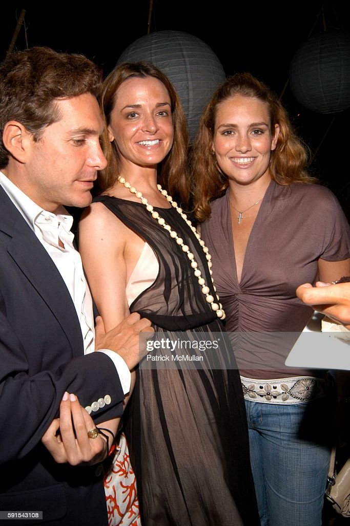 Christian Leone Annie Churchill and Gillian HearstShaw attend Birthday Celebration for Douglas Hannant and Santiago Gonzalez at Cain on June 11 2005