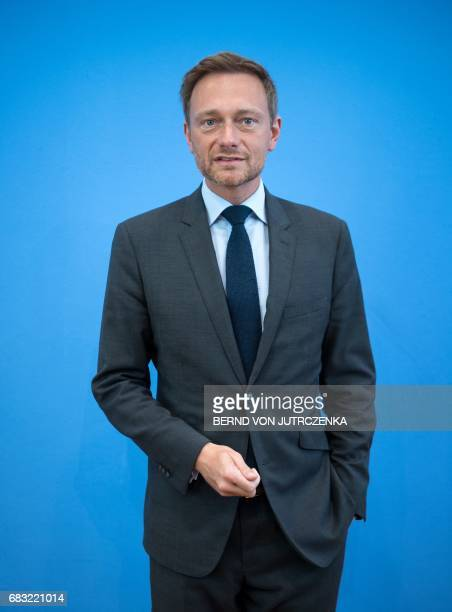 Christian Lindner chairman of the free democratic FDP party and the FDP's lead candidate in regional elections in the West German state of North...