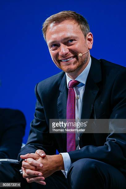 Christian Lindner head of the German Free Democratic Party is seen during the traditional Epiphany meeting of the German Liberals at the opera on...