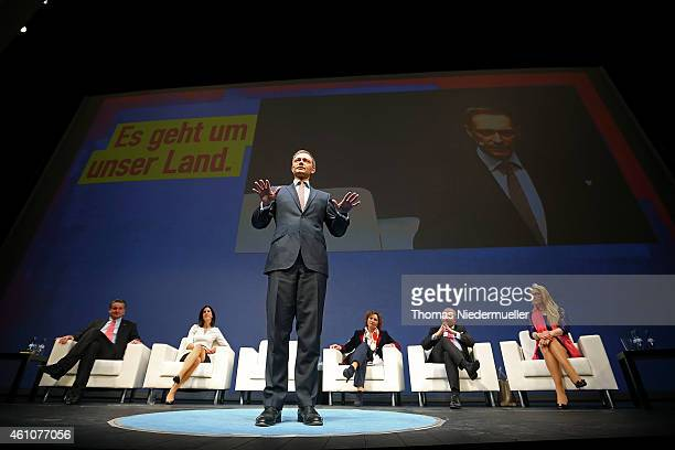 Christian Lindner head of the German Free Democratic Party talks during the traditional Epiphany meeting of the German Liberals on January 6 2015 in...