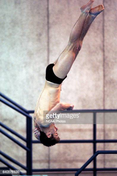 Christian Lorentzen of St Olaf competes in the 3 meter springboard diving finals during the Division 3 Men's Swimming and Diving Championship held at...