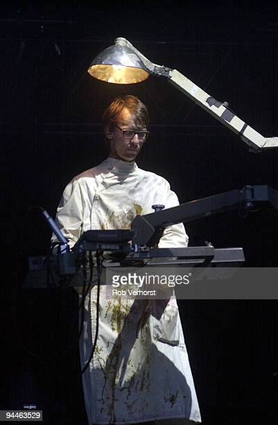 Christian Lorenz from Rammstein performs live on stage at Pinkpop festival in Landgraaf Holland on May 20 2002 Christian Lorenz
