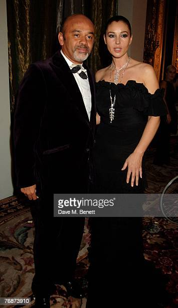Christian Louboutain and Monica Belluci attend the Cartier International Jewellery Launch Night at Lancaster House on September 19 2007 in London...