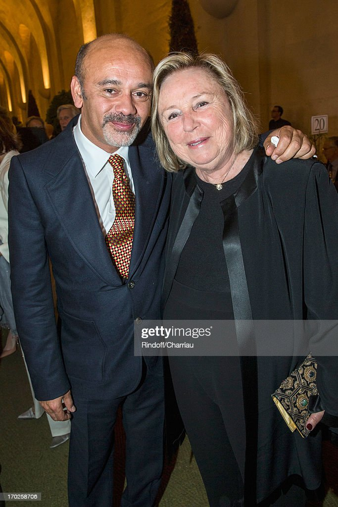 christian louboutin and maryvonne pinault attend the private visit of the exhibition by italian. Black Bedroom Furniture Sets. Home Design Ideas