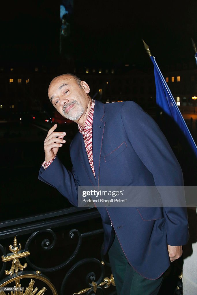 Christian Louboutin attends the 'Colonne Vendome' Is Unveiled After Restoration Works on June 27, 2016 in Paris, France.