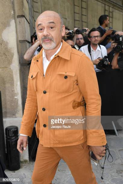 Christian Louboutin is seen arriving at Valentino fashion show during the Paris Fashion Week Haute Couture Fall/Winter 20172018 on July 5 2017 in...