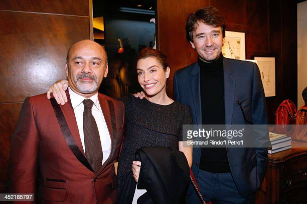Christian Louboutin journalist Daphne Roulier and General manager of Berluti Antoine Arnault attend Berluti Flagship Store Opening on November 26...