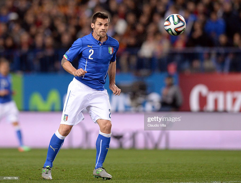 <a gi-track='captionPersonalityLinkClicked' href=/galleries/search?phrase=Christian+Maggio&family=editorial&specificpeople=2131601 ng-click='$event.stopPropagation()'>Christian Maggio</a> of Italy in action during the international friendly match between Spain and Italy on March 5, 2014 in Madrid, Spain.