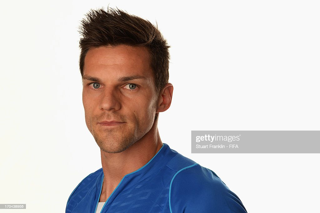 <a gi-track='captionPersonalityLinkClicked' href=/galleries/search?phrase=Christian+Maggio&family=editorial&specificpeople=2131601 ng-click='$event.stopPropagation()'>Christian Maggio</a> of Italy poses during a portrait session ahead of the 2013 FIFA Confederations Cup at the Sheraton Barra Hotel on June 12, 2013 in Rio de Janeiro, Brazil.