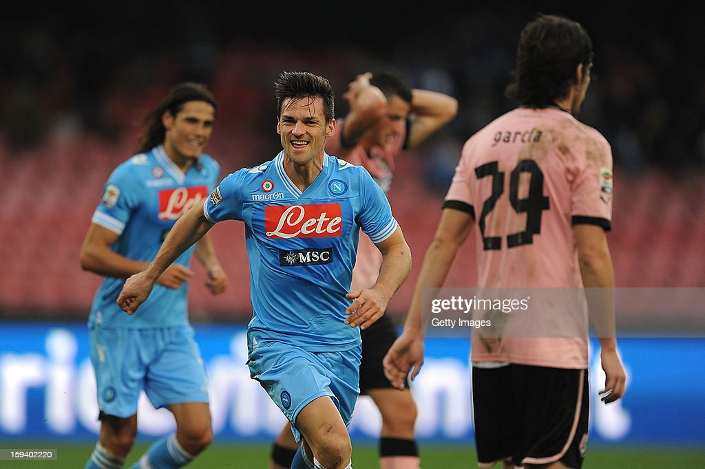 <a gi-track='captionPersonalityLinkClicked' href=/galleries/search?phrase=Christian+Maggio&family=editorial&specificpeople=2131601 ng-click='$event.stopPropagation()'>Christian Maggio</a> of Napoli celebrates scoring the opening goal of the match during the Serie A match between SSC Napoli and US Citta di Palermo at Stadio San Paolo on January 13, 2013 in Naples, Italy.