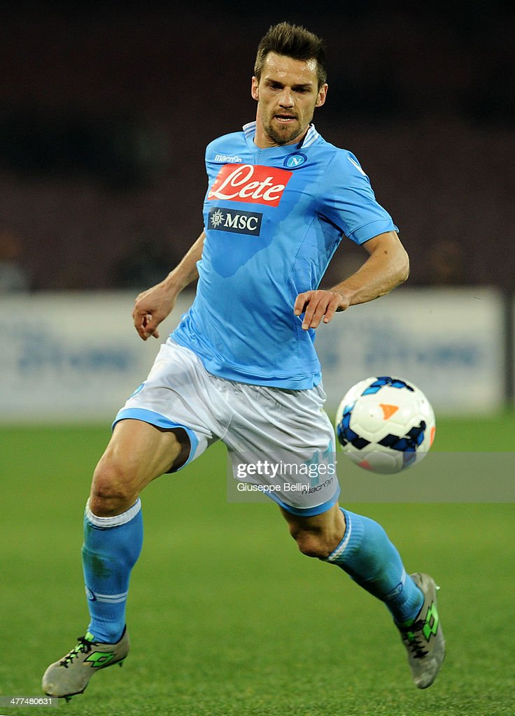 <a gi-track='captionPersonalityLinkClicked' href=/galleries/search?phrase=Christian+Maggio&family=editorial&specificpeople=2131601 ng-click='$event.stopPropagation()'>Christian Maggio</a> of Napoli in action during the Serie A match between SSC Napoli and AS Roma at Stadio San Paolo on March 9, 2014 in Naples, Italy.