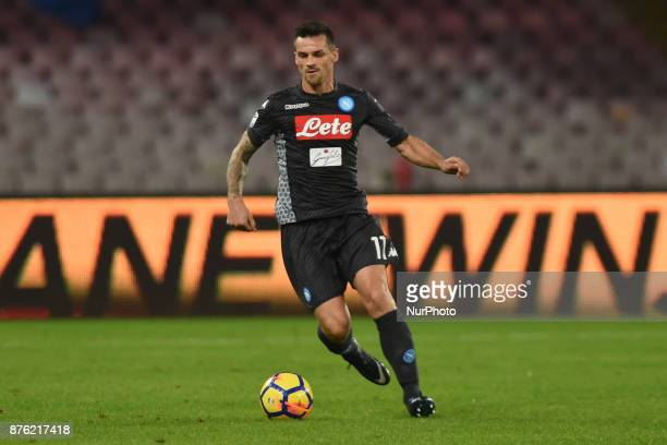 Christian Maggio of SSC Napoli during the Serie A TIM match between SSC Napoli and AC Milan at Stadio San Paolo Naples Italy on 18 November 2017