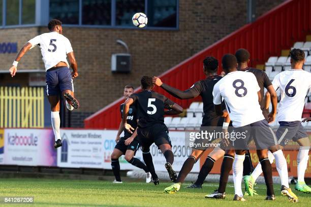 Christian Maghoma of Tottenham Hotspur scores during the Premier League International Cup match between Tottenham Hotspur v West Ham United at The...
