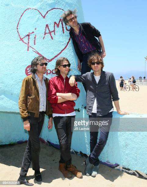 Christian Mazzalai Deck D'arcy Laurent Brancowitz and Thomas Mars of Phoenix celebrate the release of their new album 'Ti Amo' on June 09 2017 in...