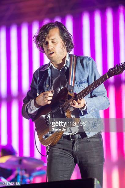 Christian Mazzalai of Phoenix performs on stage at Open'er Festival at Gdynia Kosakowo Airport on July 5 2014 in Gdynia Poland