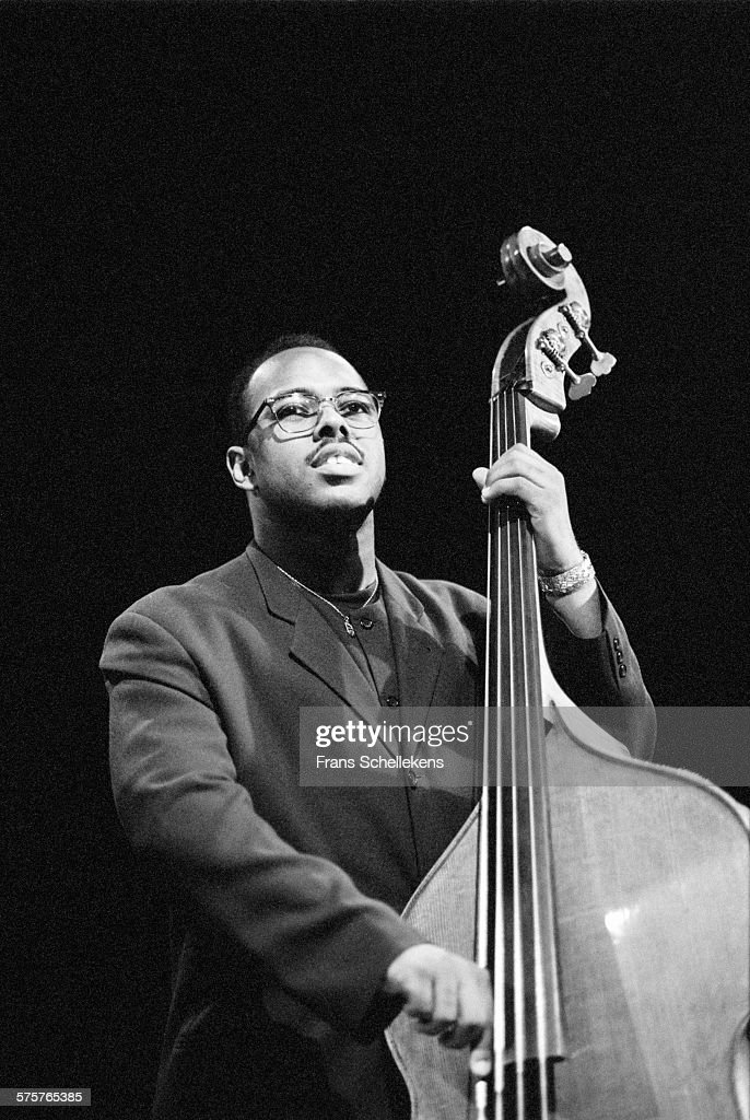 <a gi-track='captionPersonalityLinkClicked' href=/galleries/search?phrase=Christian+McBride&family=editorial&specificpeople=2558745 ng-click='$event.stopPropagation()'>Christian McBride</a>, bass, performs on July 15th 1995 at the North Sea Jazz Festival in the Hague, Netherlands.