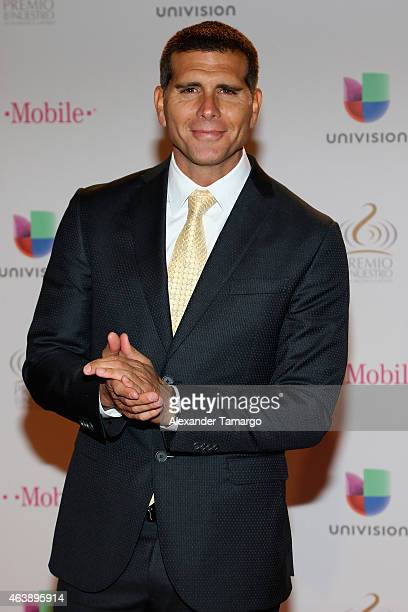 Christian Meier attends the 2015 Premios Lo Nuestros Awards at American Airlines Arena on February 19 2015 in Miami Florida