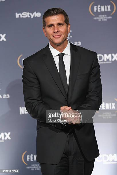 Christian Meier attends the Premio Iberoamericano de Cine Fenix 2015 at Teatro de La Ciudad on November 25 2015 in Mexico City Mexico