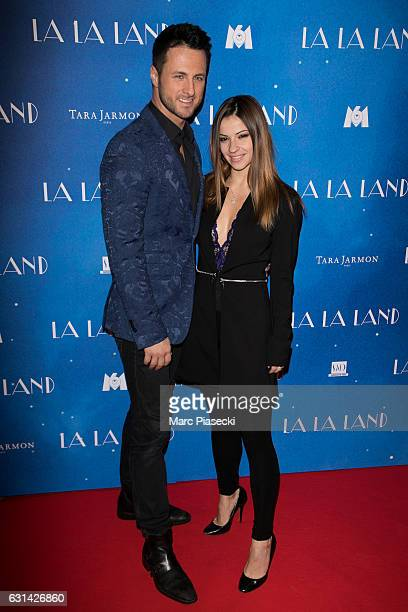 Christian Millette and Denitsa Ikonomova attend 'La La Land' premiere at Cinema UGC Normandie on January 10 2017 in Paris France