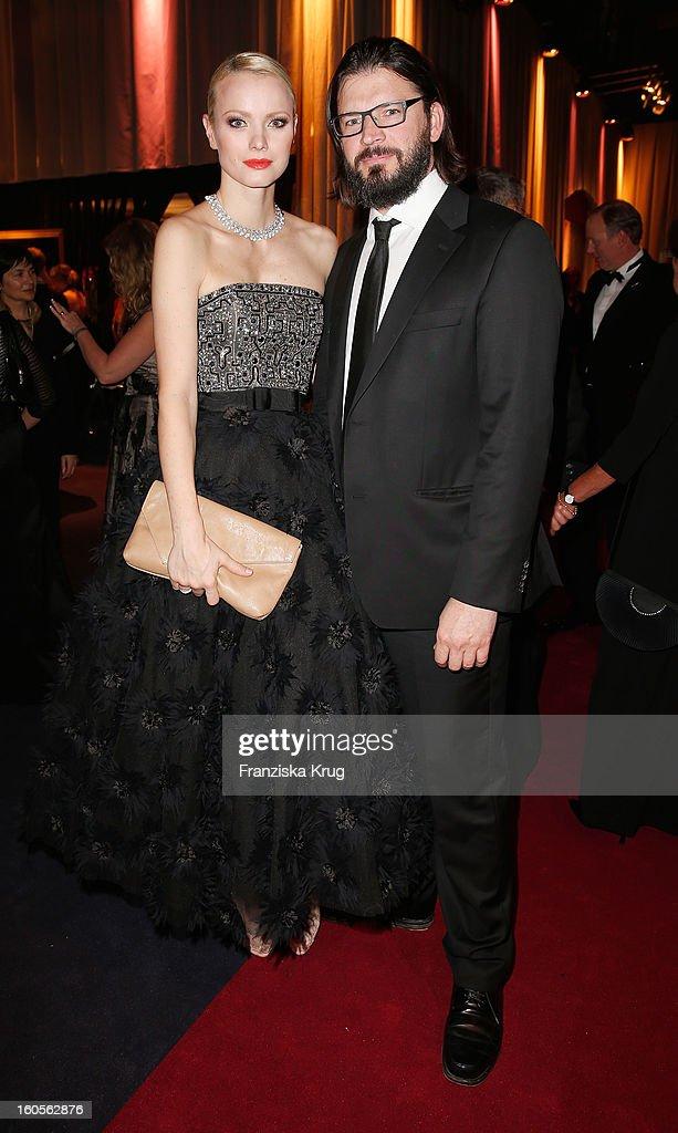 Christian Moestel and Franziska Knuppe attend 'Goldene Kamera 2013' at Axel Springer Haus on February 2, 2013 in Berlin, Germany.