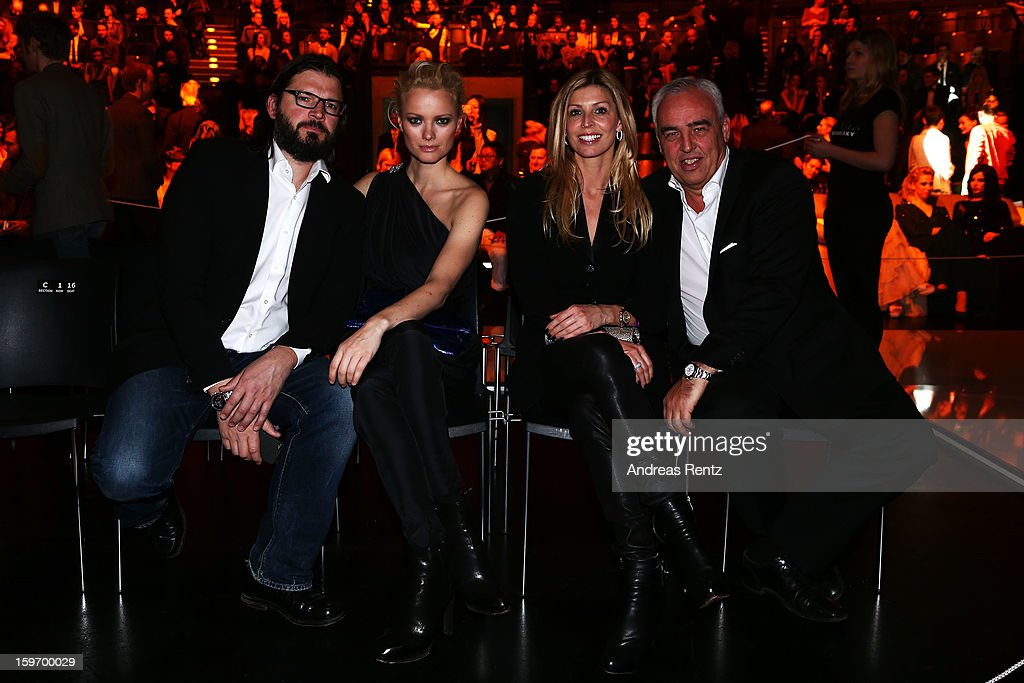 Christian Moestel, Franziska Knuppe, Katharina Schroeder and Hans-Rainer Schroeder attend the Michalsky Style Nite Autumn/Winter 2013/14 Show during the Mercedes-Benz Fashion Week at Tempodrom on January 18, 2013 in Berlin, Germany.