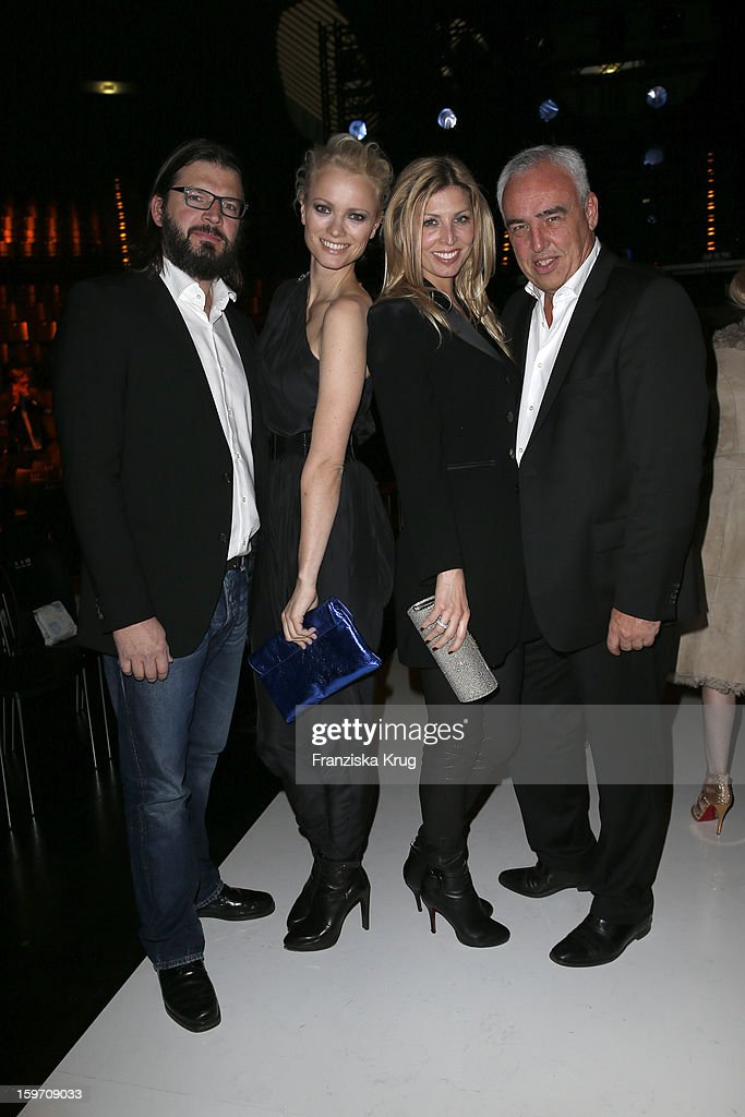 Christian Moestel, Franziska Knuppe, Katharina Schroeder and Hans-Rainer Schroeder attend the 'Michalsky Style Nite After Show Party - Mercesdes-Benz Fashion Week Autumn/Winter 2013/14' at Tempodrom on January 18, 2013 in Berlin, Germany.