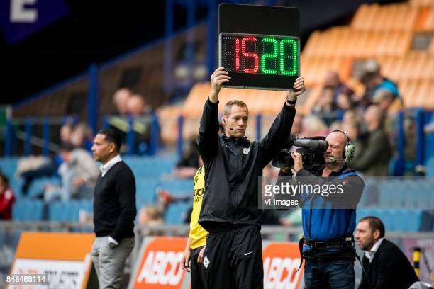 Christian Mulder with the wrong number during the Dutch Eredivisie match between Vitesse Arnhem and VVV Venlo at Gelredome on September 17 2017 in...