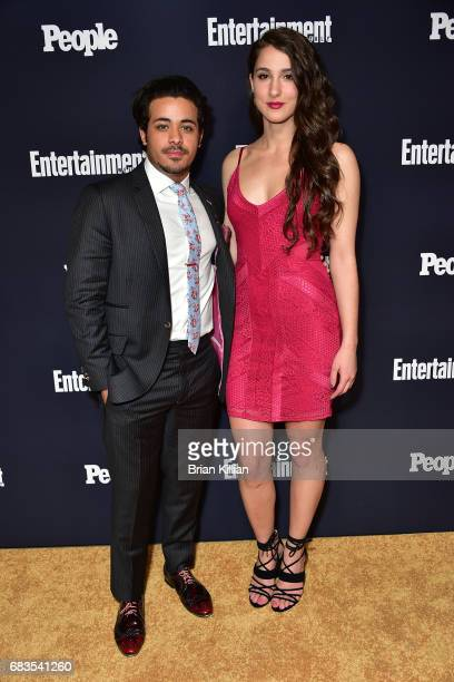 Christian Navarro and Evangalia attend the Entertainment Weekly People New York Upfronts at 849 6th Ave on May 15 2017 in New York City