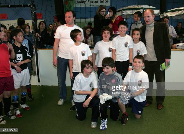 Christian Nerlinger Matthias Sammer and Children during the 'Play Soccer Get Together' charity tournament sponsored by Bitburger on February 24 2007...