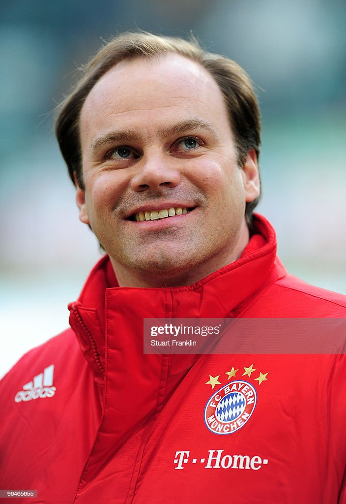 Christian Nerlinger Sports Director of Muenchen during the Bundesliga match between Vfl Wolfsburg and FC Bayern Muenchen at Volkswagen Arena on...