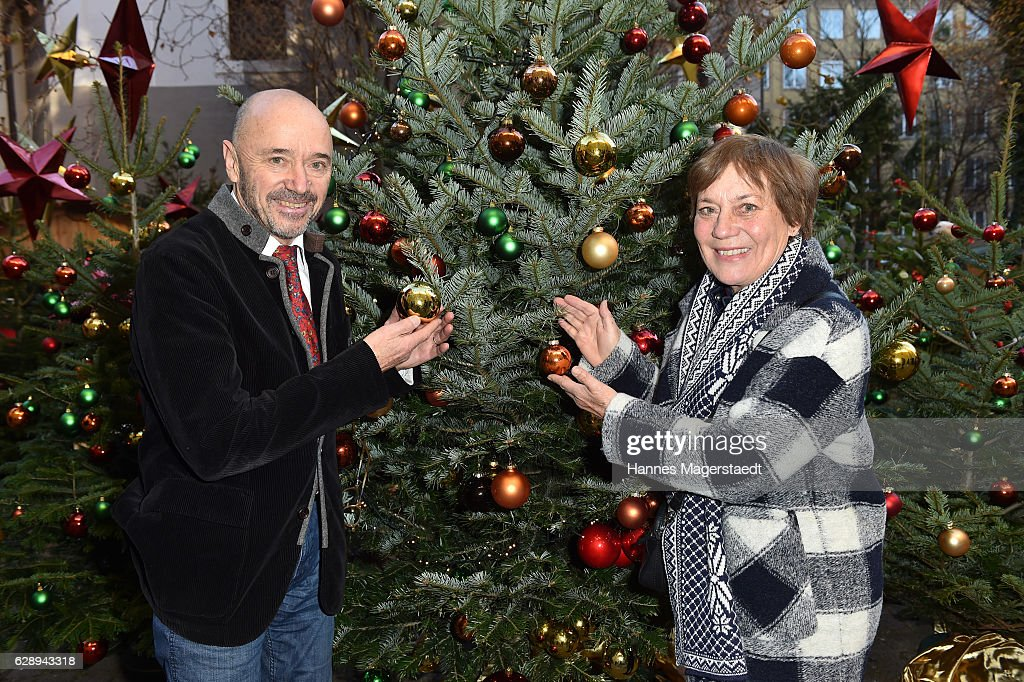 Christian Neureuther and his wife Rosi Mittermaier during the 21th BMW advent charity concert at Jesuitenkirche St. Michael on December 10, 2016 in Munich, Germany.