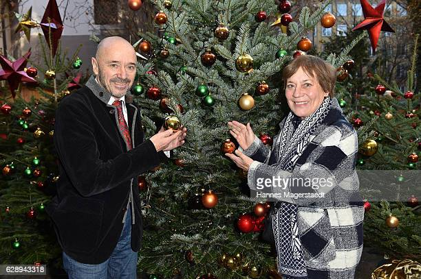 Christian Neureuther and his wife Rosi Mittermaier during the 21th BMW advent charity concert at Jesuitenkirche St Michael on December 10 2016 in...
