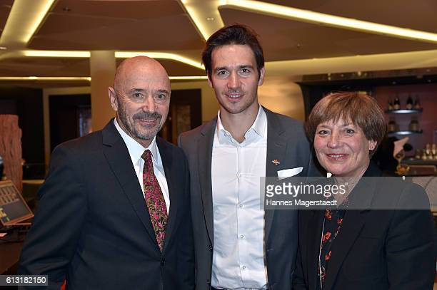 Christian Neureuther Felix Neureuther and Rosi Mittermaier during the Felix Friends Charity Gala at Hotel Vier Jahreszeiten on October 7 2016 in...
