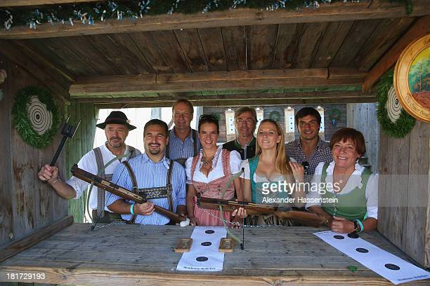 Christian Neureuther Georg Hackl Christof Langen Katarina Witt Prince Leopold von Bayern Ingalena Heuck Bruno Spengler and Rosi Mittermaier attend...