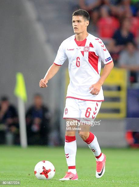Christian Norgaard during the UEFA European Under21 match between Czech Republic and Denmark at Arena Tychy on June 24 2017 in Tychy Poland