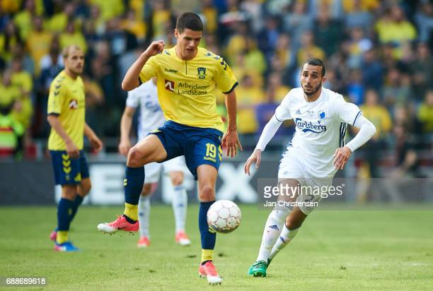 Christian Norgaard of Brondby IF in action during the Danish Cup Final DBU Pokalen match between FC Copenhagen and Brondby IF at Telia Parken Stadium...