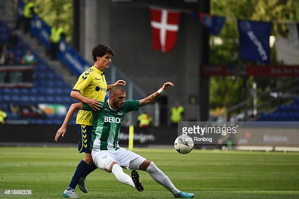 Christian Norgaard of Brondby in action during the UEFA Europa League Qualification match between Brondby IF and PFC Beroe Stara Zagora at Brondby...