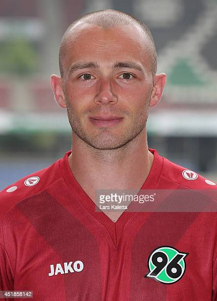 Christian Pander poses during the team presentation at HDIArena on July 8 2014 in Hanover Germany