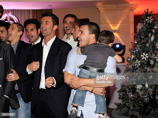 Christian Panucci and Valeri Bojinov of Parma FC Celebrates The New Year at Meridien St Julians Hotel on December 31 2009 in Malta Malta