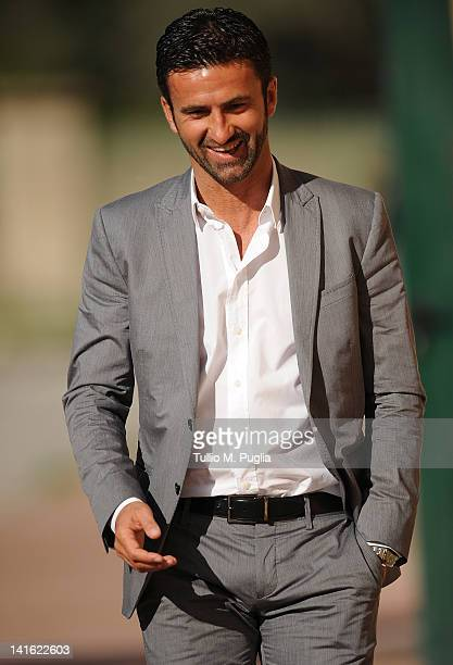 Christian Panucci looks on after his presentation as a technical director for US Citta di Palermo at Tenente Carmelo Onorato Sports Centre on March...