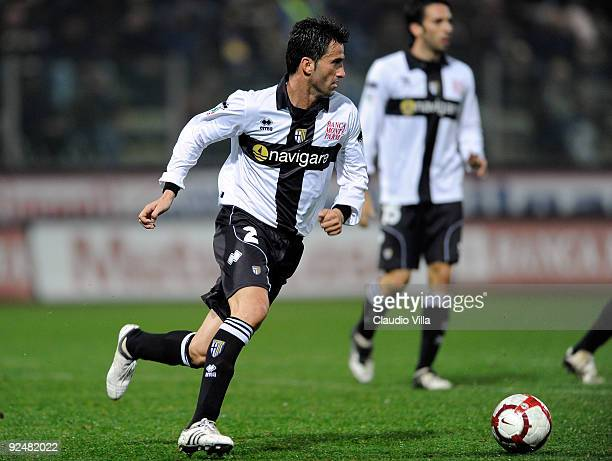 Christian Panucci of Parma FC during the Serie A match between Parma FC and AS Bari at Stadio Ennio Tardini on October 28 2009 in Parma Italy