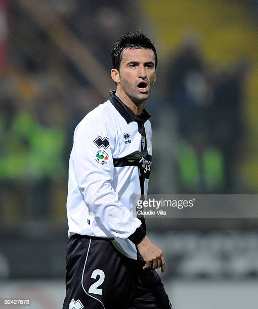 Christian Panucci of Parma FC looks on during the Serie A match between Parma FC and AS Bari at Stadio Ennio Tardini on October 28 2009 in Parma Italy