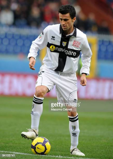 Christian Panucci of Parmma FC in action during the Serie A match between Genoa CFC and Parma FC at Stadio Luigi Ferraris on December 6 2009 in Genoa...